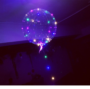 New Arrivals 2018 Hot Sell 3M Led String 18inch Clear Perfect Round Shape Globo Led Balloon For Valentine's Day Gift