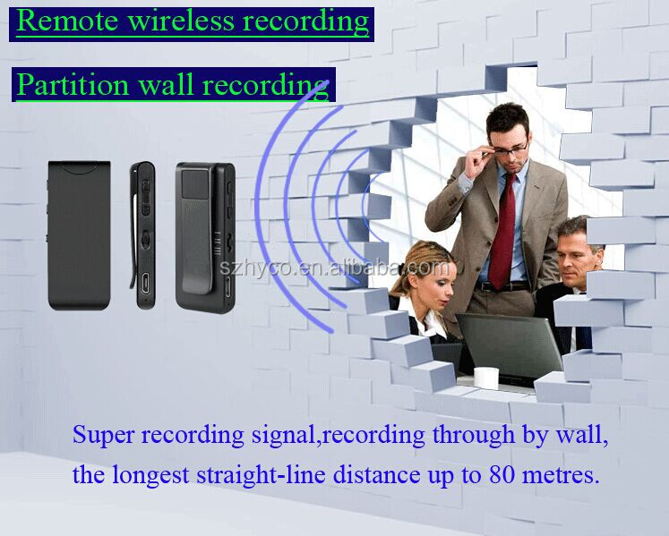 Small volume Remote Wireless Recording voice recorder with the belt and magnet