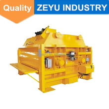JS2000 double shaft horizontal concrete mixer with conceyor belt feeder