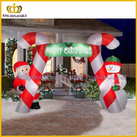Candy cane inflatable archway,inflatable christmas arch for outdoor decoration on sale