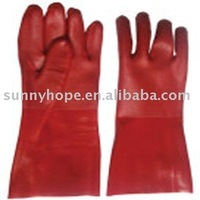 PVC dipped glove with sandy finish