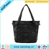 Popular Fashion Custom Hand bag Lady Black Leather Shoulder Satchel Bag