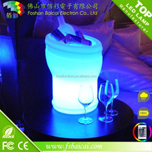 portable CE&ROHS approved plastic Waterproof led ice bucket/Bar beer barrel