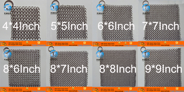 SS304 Chainmail Scrubber Sample (Shipping cost)