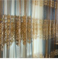 High quality embroidery sheer organza voile jacquard blackout burnout print curtain fabric 15 years curtain factory