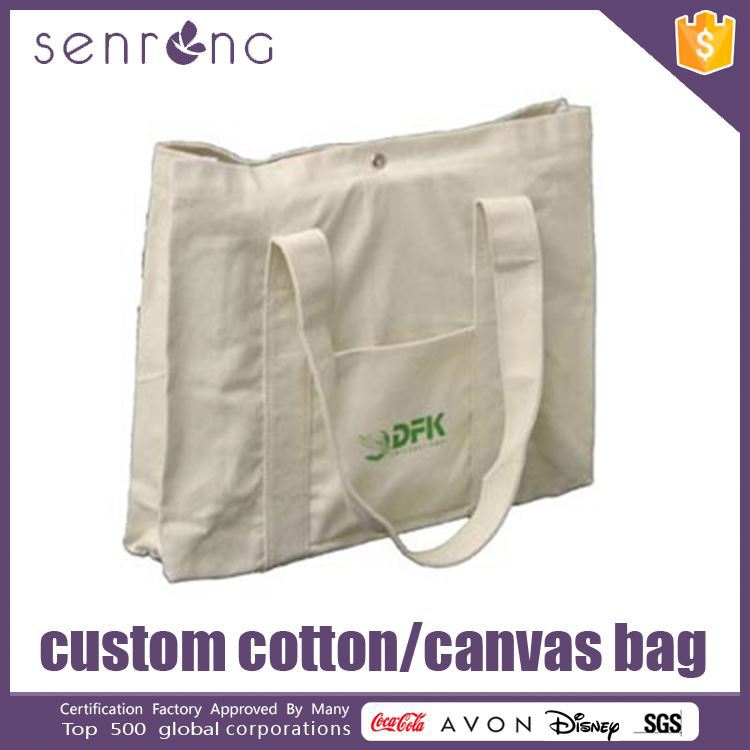 Cotton Handle Paper Shopping Bag Promotional Heavy Cotton Canvas Tote Bag