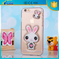 Shimmering powder 2d 3d animel sex girl waterproof phone case for iphone 6 plus