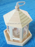wooden birds feeder with a rope environment friendly products