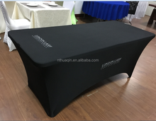 6ft rectangular spandex tablecloth table cover stretch table cloth with logo print