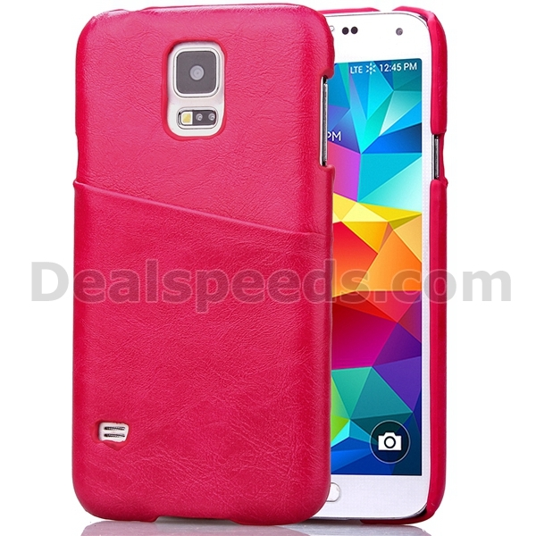 With Phone holder Card Slots Hard for Galaxy S5 Mini Back Cases for Samsung G800-Rose