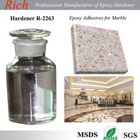 Clear epoxy hardener R-2263 for Stone repairing epoxy /color sand flooring/ epoxy AB glue