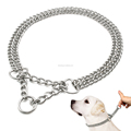 Factory price stainless steel custom metal chain dog collar