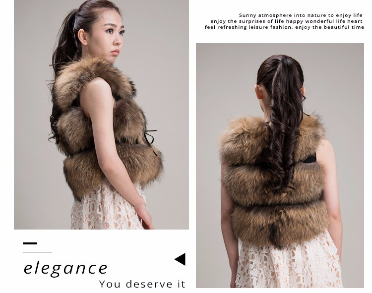 2017 Popular real fur fluffy womens natural fur trim coat