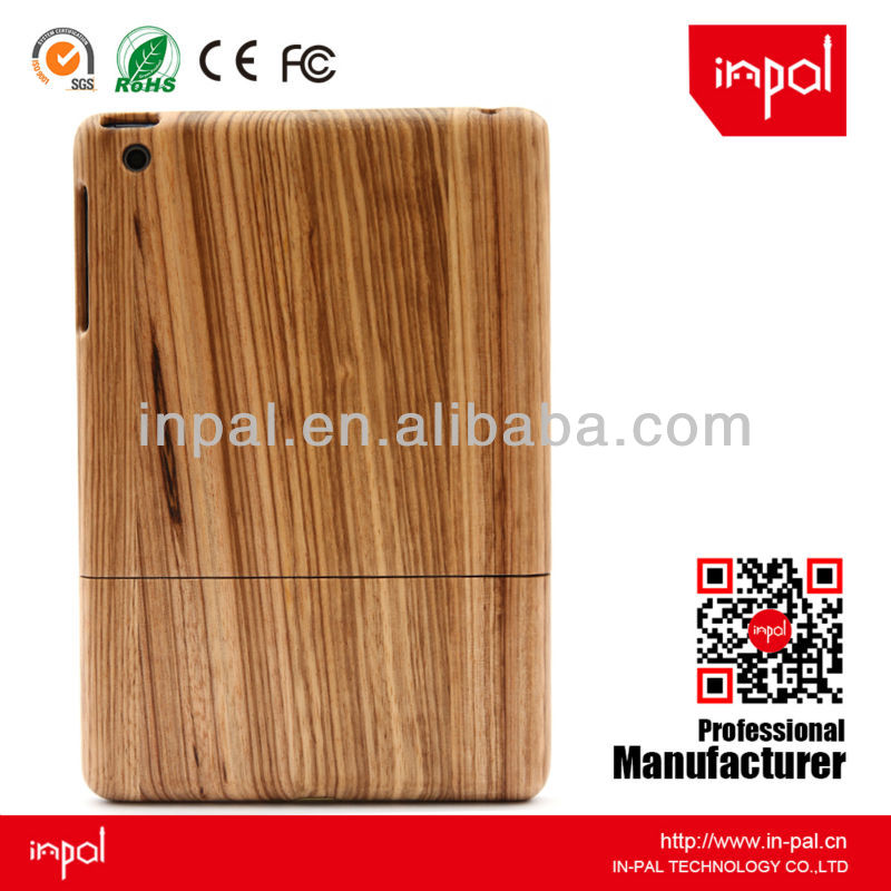 Luxury zebra wood cover case for ipad mini as promotion gift