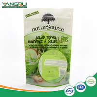 customized zipper food packing bag for vegetable or salad fruit juice