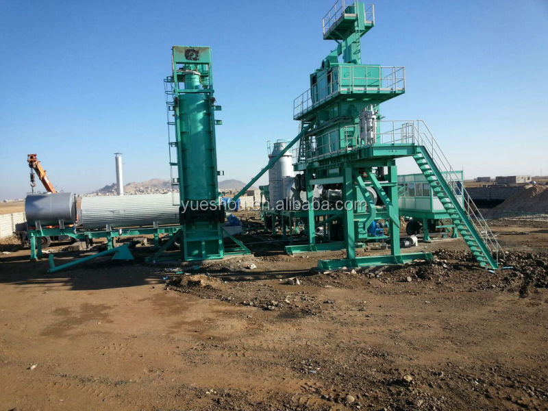 Mobile asphalt mixing plant 120t/h working in Algeria