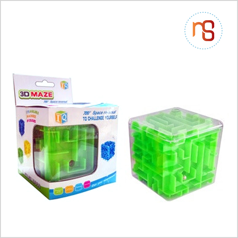 Hot selling intelligence toy plastic cube 3d maze ball for children