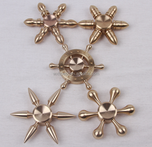 New Arrival Hot Selling High Quality Wholesale Bullet Hand Spinner ,Copper Bullet Six Arms Fidget Hand Spinner Anti-Stress