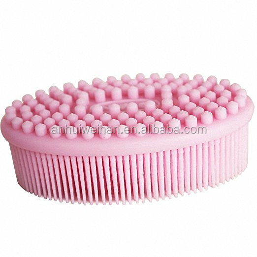 2017 nwest arrival!!silicone baby massage body bath brush