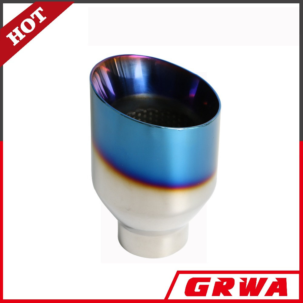 stainless steel exhaust tip with titanium blue exhaust muffler tip