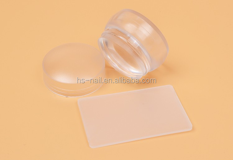 New mini chess design 3.5cm transparent clear soft jelly stamper for nail art stamping