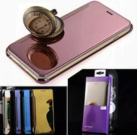 Hot Mirror Clear View Slim Flip Leather Case Cover For Apple iphone 6/s/Plus 5/5S