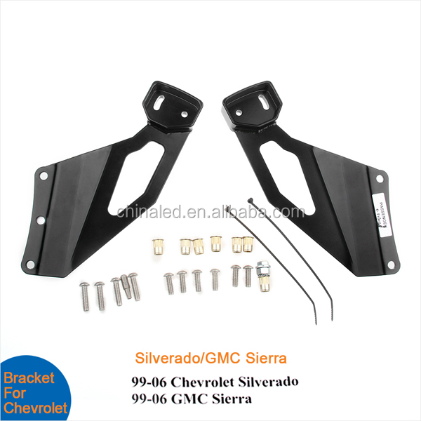 Stainless Steel Windshield Mount Bracket fit Offord LED Light Bar Bracket for Chevolet GMC Truck, Auto parts,Car bracket