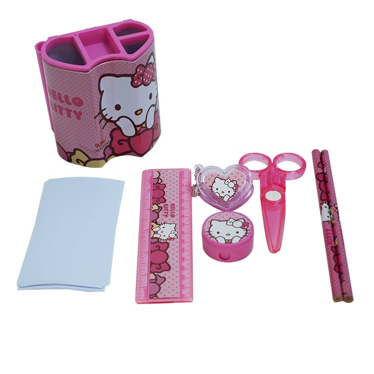 Customized logo cheap stationery set with accessories inside