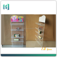 High quality Facoty Supply custom store metal wire hanging basket candy display rack