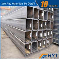 ERW hot dipped zinc coating welded square carbon galvanized steel pipe