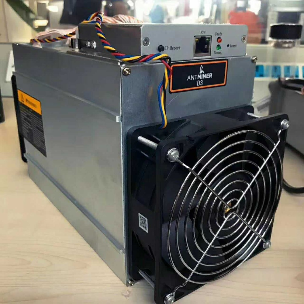 2017 Hot Sale Stocked Preorder BTC LTC 15GH/S Asic Miner Antminer D3 for Dash Hashing Algorithm X11