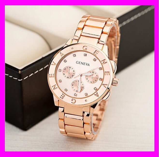 K9021 Latest new style rose gold lady geneve watch