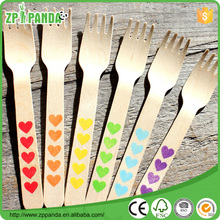 Wedding Decoration heart shaped spoon disposable wooden spoons wooden scoop small custom printed wooden spoon
