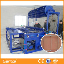 Automatic fixed knot field fence machine