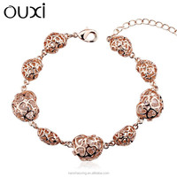 OUXI Top sale AAA zircon jewellery gold bracelet designs