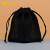 factory customize eco-friendly net drawstring pouch travel drawstring mesh bag