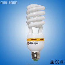 CFL 20W half spiral T2 glass tube fluorescent energy saving lamp