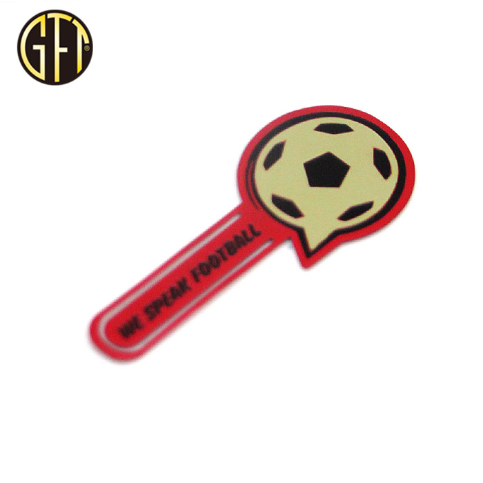 New design custom football metal bookmark for kids gifts