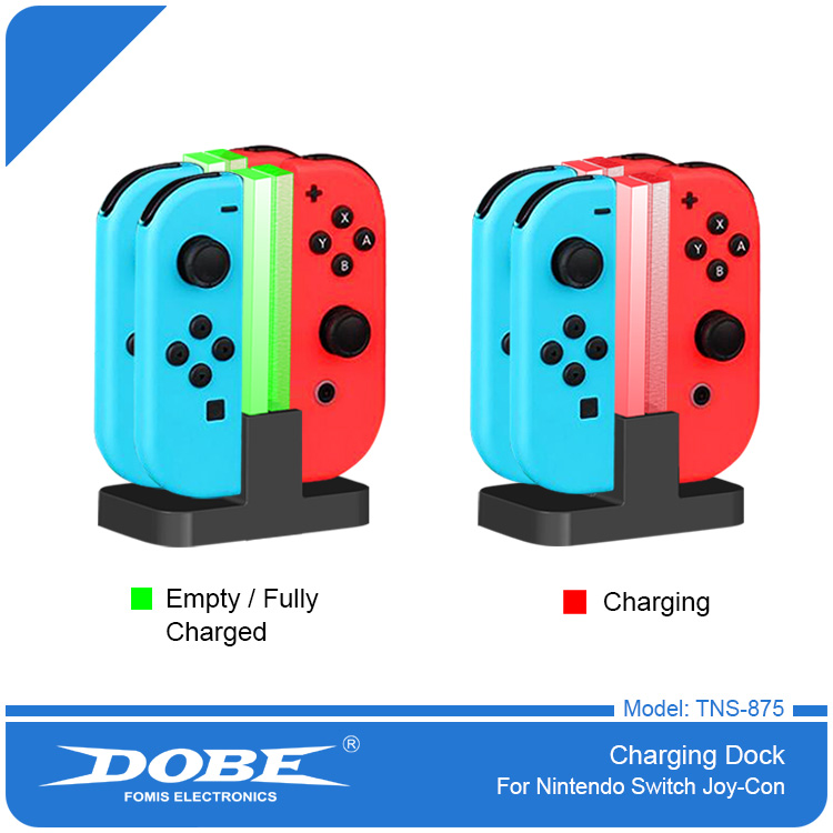 DOBE Colorful Led Multi Charging Stand Joy Con Grip Charger Dock For Nitendo Switch