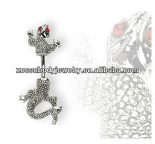 Chameleon Belly Button Navel Ring Dangle body jewelry