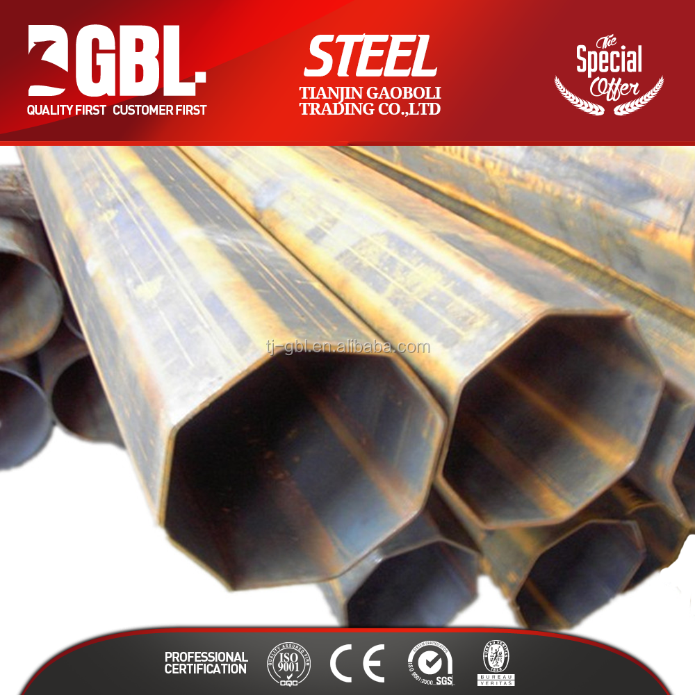 different types of special shape steel pipe