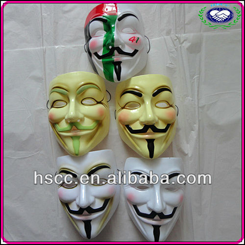 China Manufacturer Movie Halloween Cosplay Mask V For Vendetta For Sale