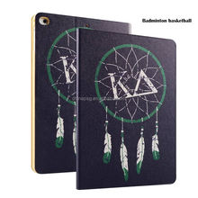 Newest Color Printing Pu Leather Smart Case for Ipad Mini, Folio Stand Cover Case for Ipad Mini123 (Feather Basketball)