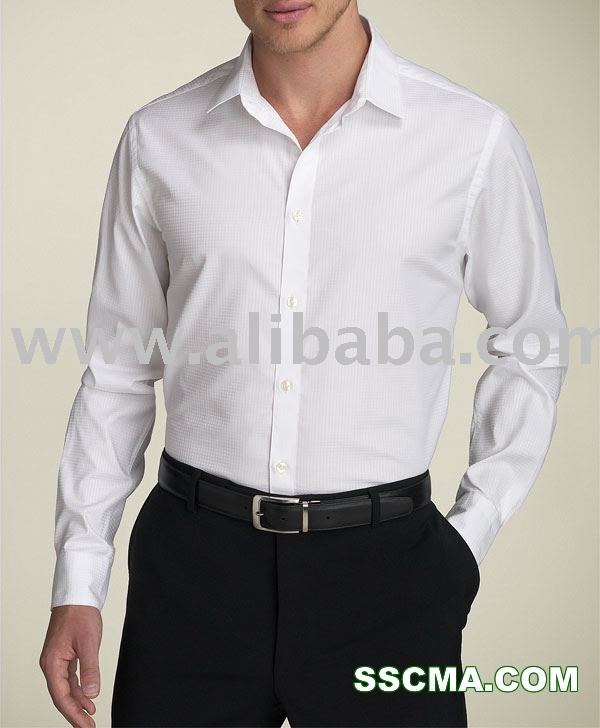 Men White Slim Fit Cotton Dress Shirt Private Label   Custom ...