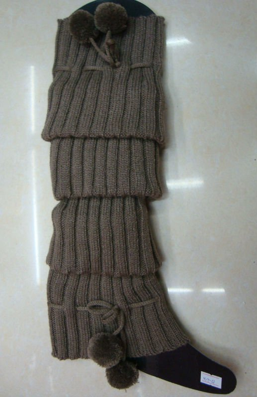 Fashion womens knitted leg warmers in cold winter