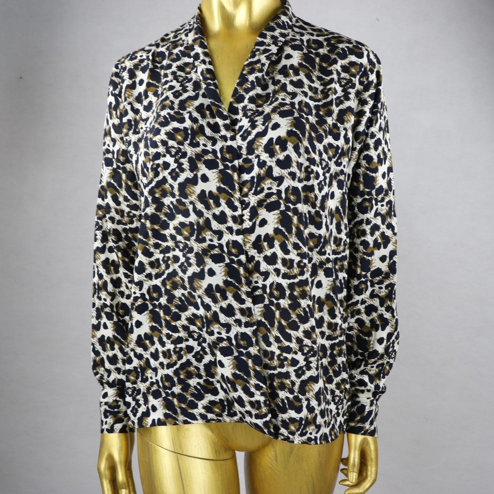 2016 wholesale boutique women Leopard printing shirt