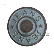 custom made antique copper iron metal tack buttons for jeans jacket