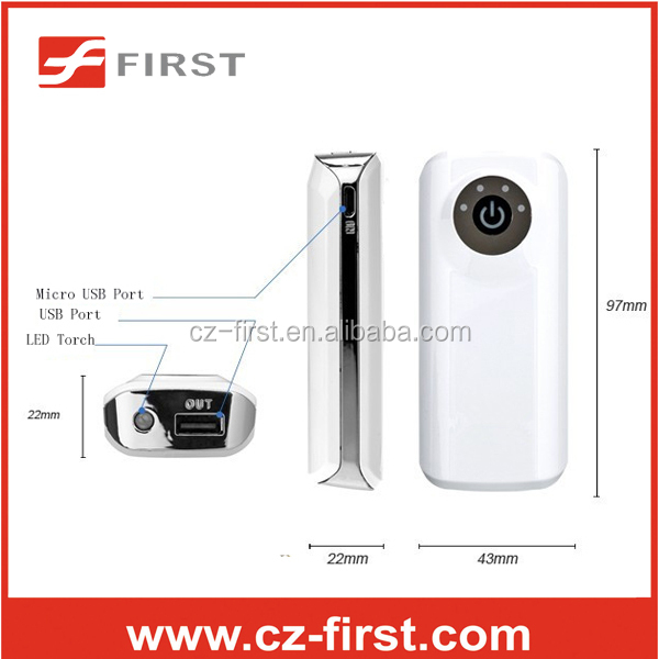 High Quality portable Torch power bank with 4400mah