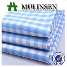 Mulinsen textile cotton plaid fabric, blue white yarn dye fabric