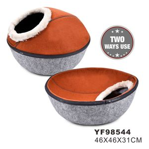 Petstar factory direct sell of Hot Sale Eco Friendly Wool Felt Cat Cave/Cat Bed